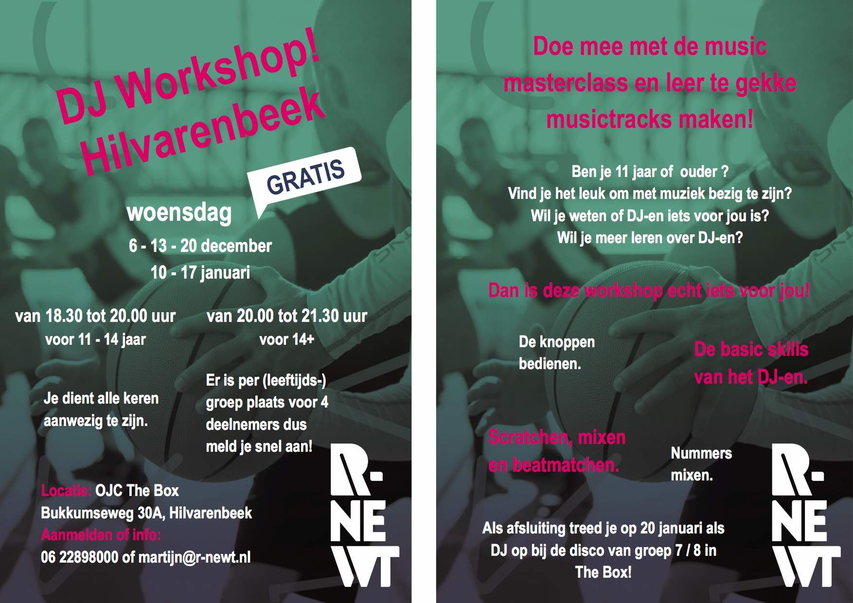 Flyer R newt DJ workshop
