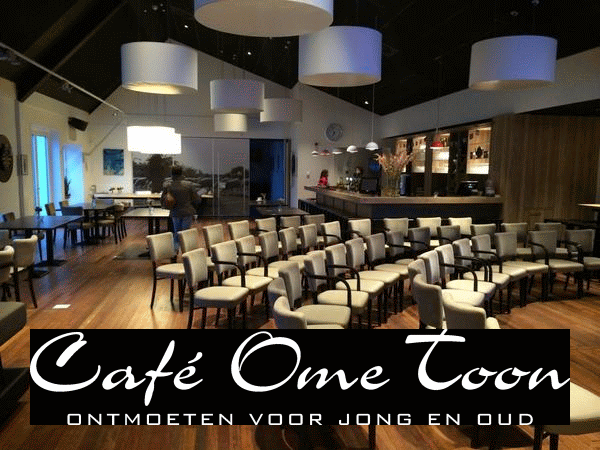 Cafe Ome Toon Logo wit